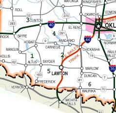 Southwest oklahoma lake location map publicscrutiny Image collections
